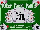 Poker Faced Paul's Gin - Sega Game Gear